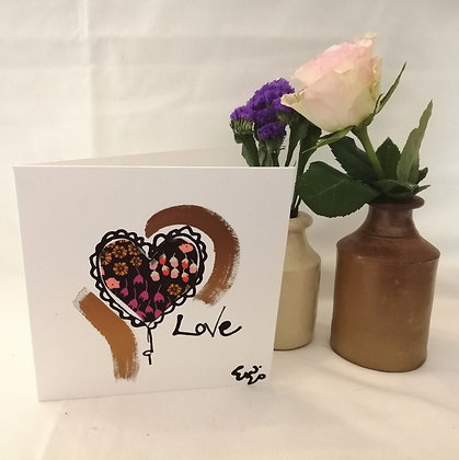 Love hand drawn card