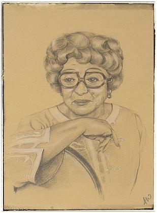 Thora Hird portrait by Andrew Willis