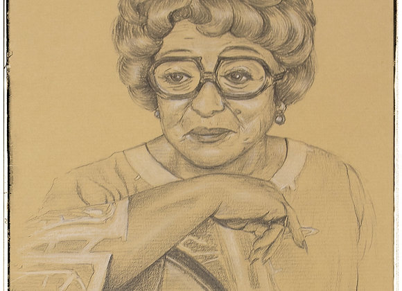 Thora Hird portrait by Andrew Willis