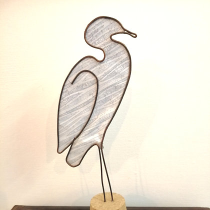 Heron bird sculpture