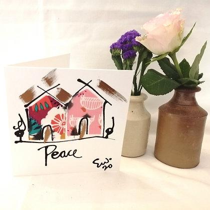 Peace hand drawn card