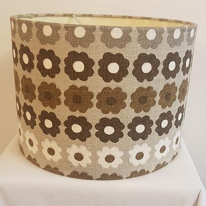 Medium flower print lampshade