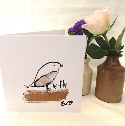 Fly hand drawn card.