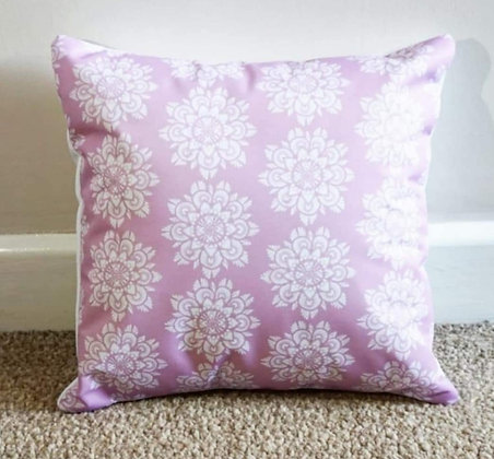 Pink mandala cushion by Sarah Bell Designs