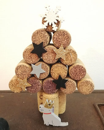 Upcycled Cork Christmas tree