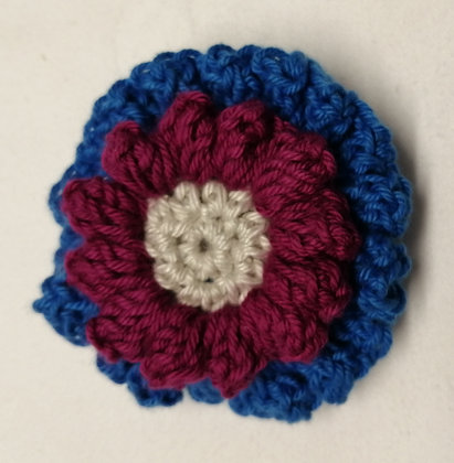 Hand crocheted pin cushion in a range of colours