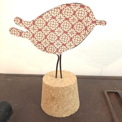 Christmas pattern bird