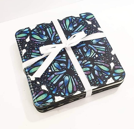 Blue Dragonfly coasters by Sarah Bell