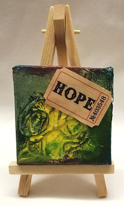 Hope textile fine art mini canvas