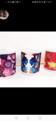 Ink design mugs by Sarah Bell
