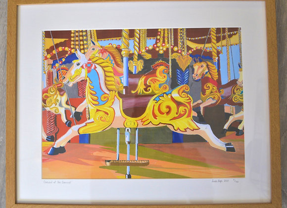Fair ground horse print by Linda Page