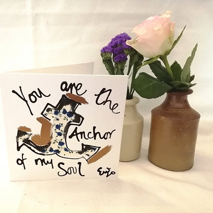 You are the anchor of my soul
