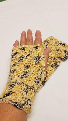 Pure wool fingerless gloves