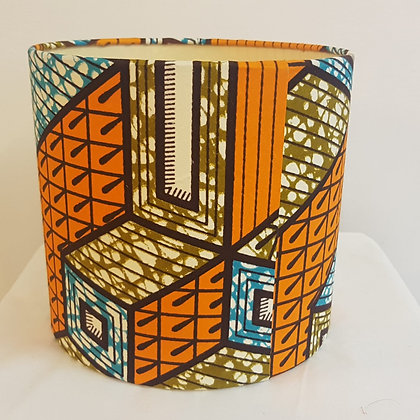 Small African wax pattern lampshade