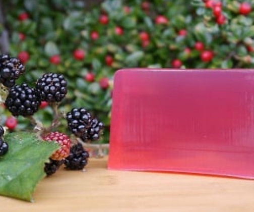 Blackberry and raspberry handmade soap