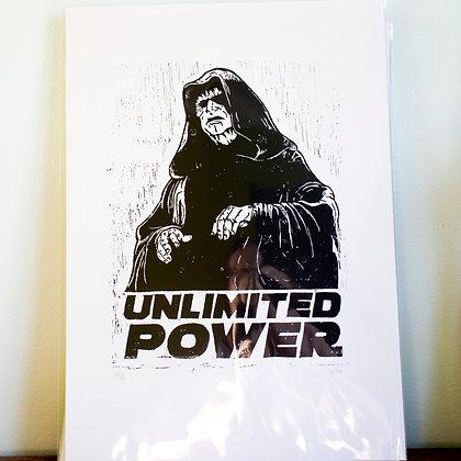 Large Star Wars  Darth Sidous Emperor unframed Lino print