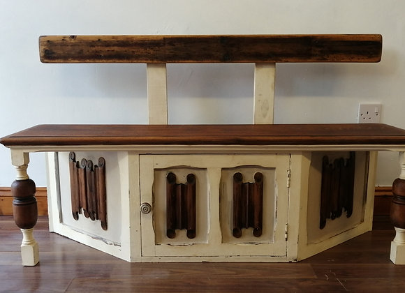 Very unique bench made from a Welsh dresser with storage.