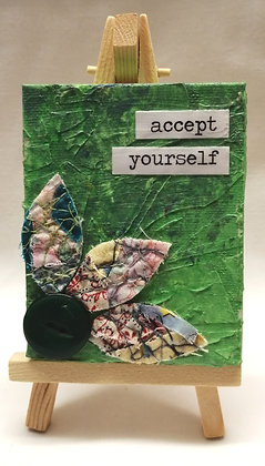 Accept yourself textile fine art mini canvas