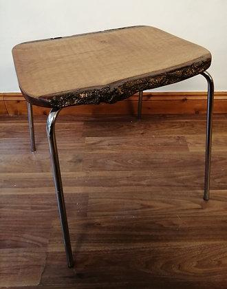 Handmade oak live edge table /stool