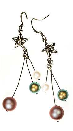 Star bauble earrings
