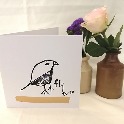 Hand drawn ink illustration card