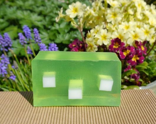 A slice of lime handmade soap