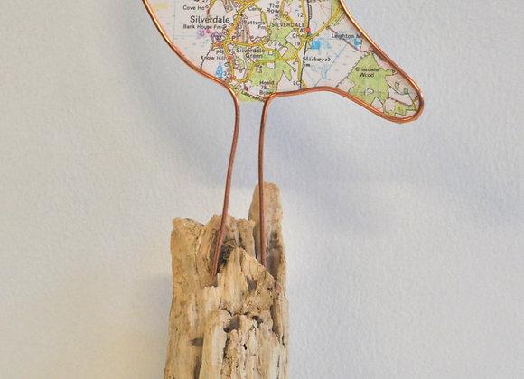 Silverdale map bird sculpture