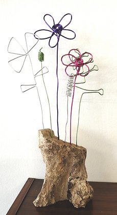 Flower wire bouquets