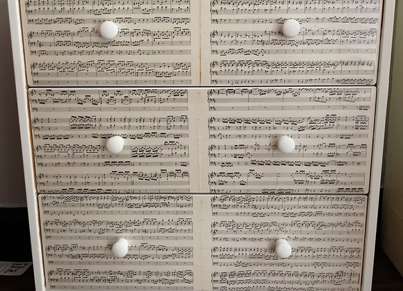 Decoupage drawers music design