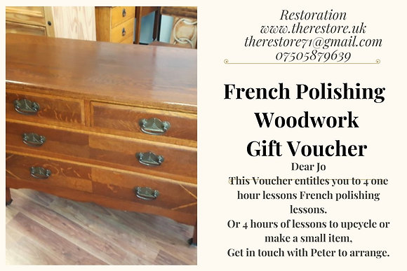 French polishing lessons gift voucher