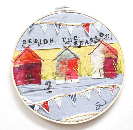 """Beside the seaside"" mixed media embroidery"