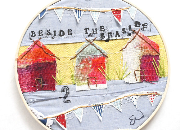 """""""Beside the seaside"""" mixed media embroidery"""