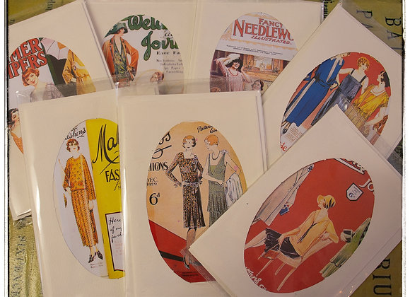 Vintage themed cards various designs