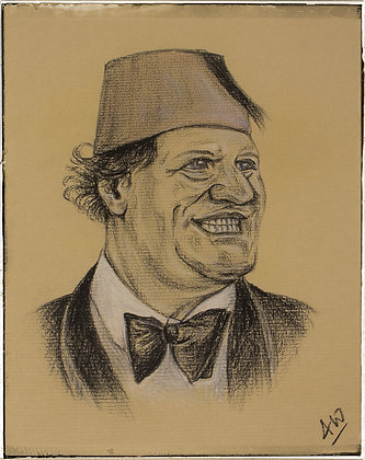 Tommy Cooper portrait by Andrew Willis