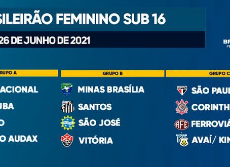 Brasileirão Feminino Sub-16 começa neste sábado