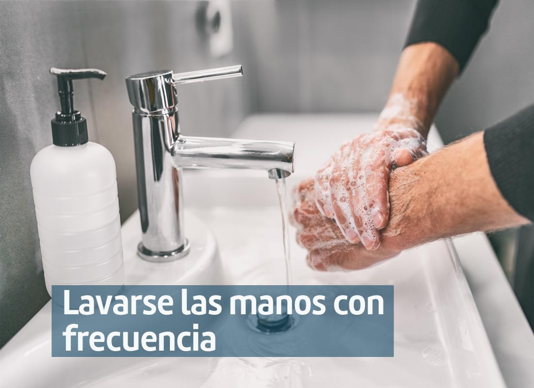 Lavarse manos con frecuencia-B Covid 19