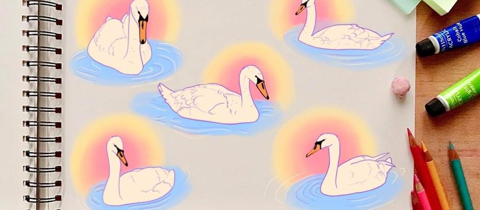 Sketching Swans