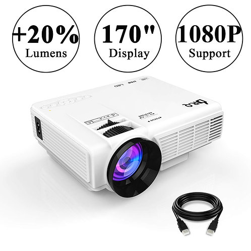 DR.Q Projector, Mini Projector, Upgraded 2500 Lux