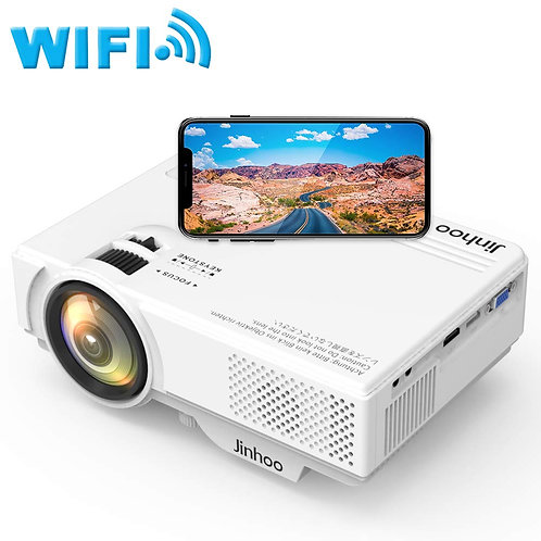 WiFi Mini Projector 1080P Supported, 2400 Lumens Full HD Video Projector