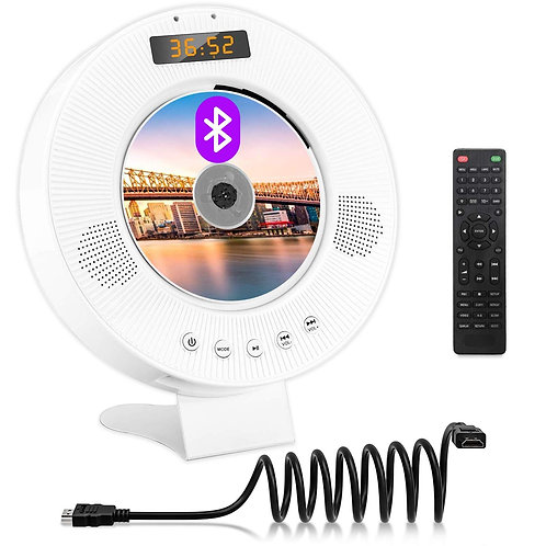 Jinhoo Portable Bluetooth DVD CD Player Wall Mountable