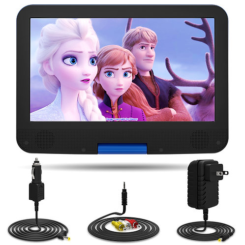 "12.5"" Portable Car Video DVD Player 10.5"" Internal Swivel Screen with 5 Hours Re"