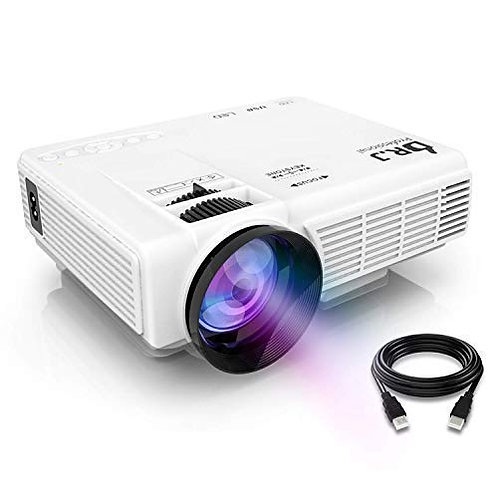 "DR.J Projector (Latest Upgraded), Mini Video Projector with 176"" Projection Size"