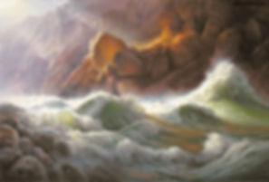 Lava Falls  Oil on Linen  50 x 72   2005
