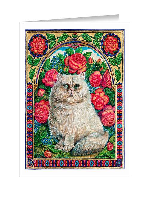 Persian Cat in Roses #061