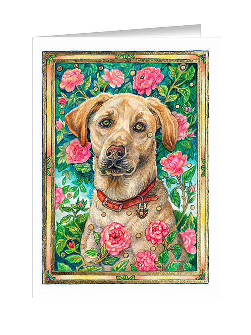 Yellow Lab with Queen's Rose #042