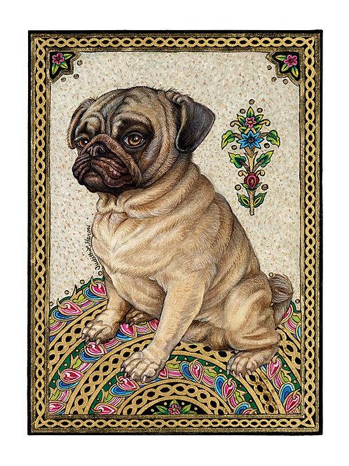 Royal Pug - Paper Giclee Print