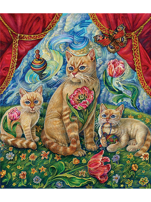 Red Flame Top Cat - Paper Giclee Print