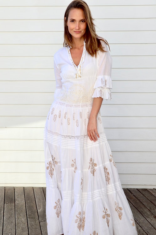 Romantic Embroidered Gown