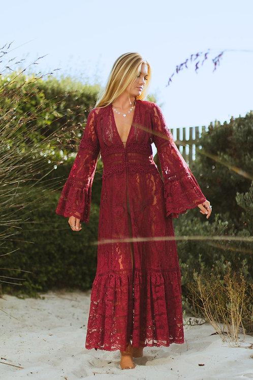 Boston Proper Boho-Flared Dress