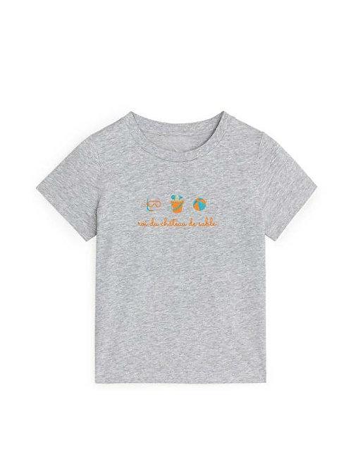 T-shirt 'roi du château de sable'